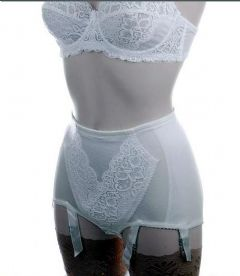 Control Panty Girdle in Ivory with 6 Suspender Straps
